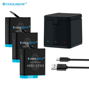 цена на Battery 801 for GoPro Hero 8 Hero 7 Hero 6 Hero 5 Black 1220mAh Li-ion AHDBT-801 Batteria Charger Camera Accessories AHDBT801