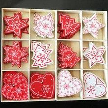 Adornos de Navidad de madera para niños, 10 Uds., 5cm, juguetes para Navidad, árbol navideño, colgantes para colgar, decoración de Navidad para fiesta en casa, Año Nuevo