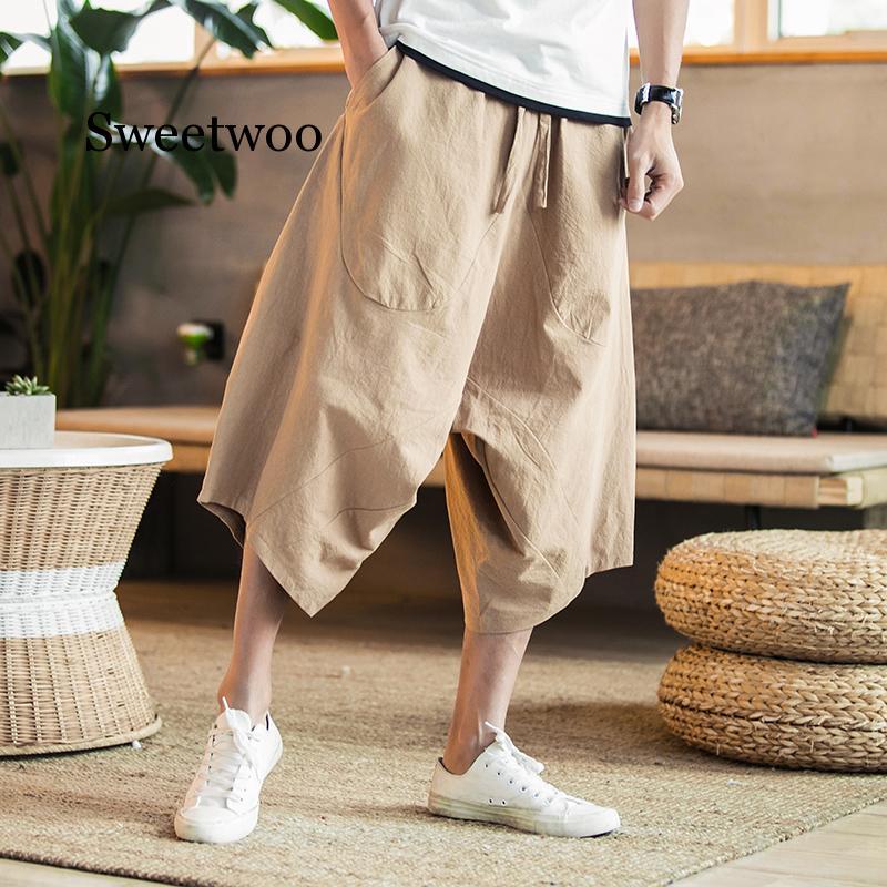 Men Harem Pants 2020 Mens Summer Cotton Linen Joggers Pants Male Vintage Chinese Style Sweatpants Fashions