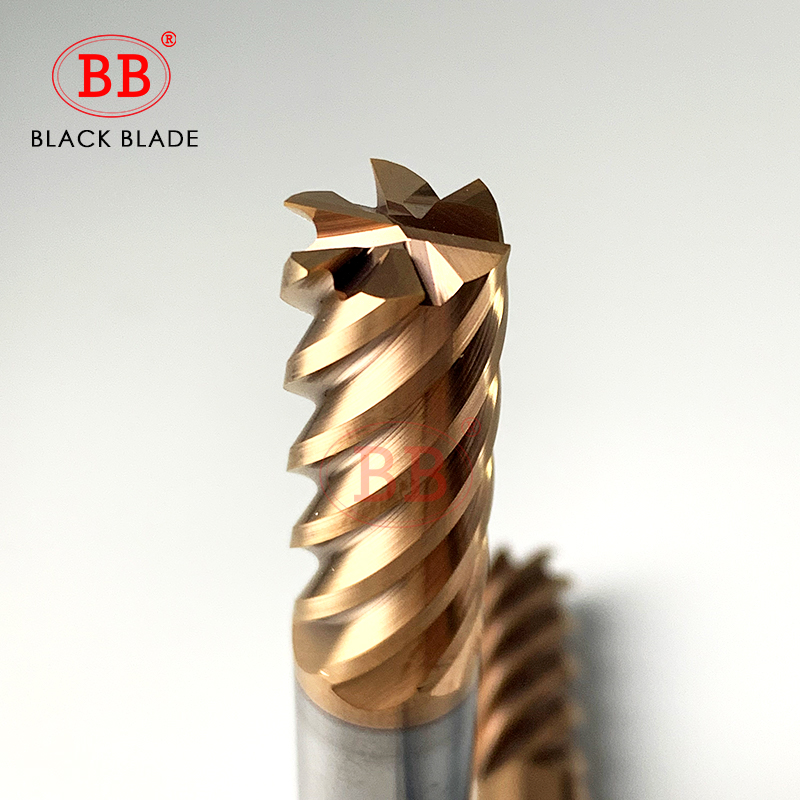 BB 6 Flutes Carbide End Mill Metal Steel Milling Cutter CNC Finish Machining Router