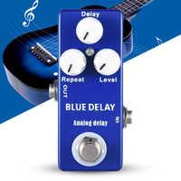 Mosky Delay pedal Mini Guitar Effect Pedal Deep Blue True Bypass 9V Negativ Mini version of Mad Professor Zinc aluminum alloy