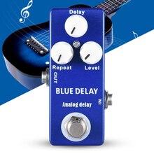 Mosky pédale de retard Mini guitare effet pédale bleu profond véritable dérivation 9V négativ Mini version de Mad professeur Zinc alliage daluminium