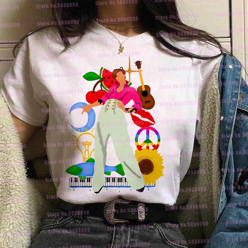 Roze Liefde Op Tour Harry Stijlen Grafische T-shirt Vrouwen Watermeloen Suiker Tops Harajuku Tpwk Vlinder Tees Koreaanse Kleding Vrouwelijke