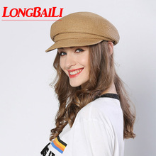 LongBaiLi Summer Fashion Women Beret Hats Female Quality Pap