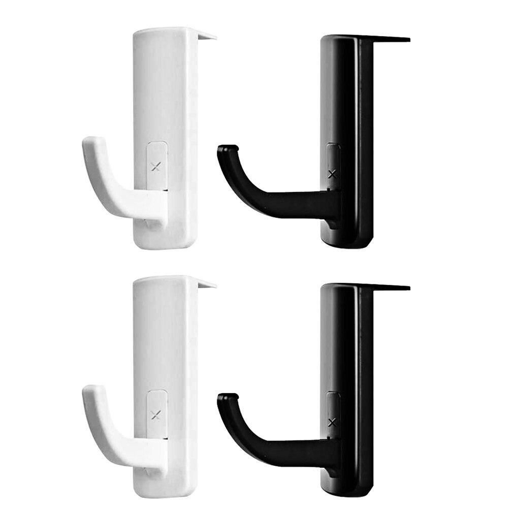 4pcs Headphone Holder Self Adhesive Earphone Hooks For School Internet Cafe Home