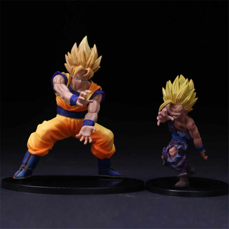 3 estilos De Dragon Ball Z Goku Super Saiyan Gohan VS Cena Final Celular Anime Ver. DBZ Goku Vegeta PVC Action Figure Modelo Presente