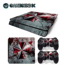 Наклейка на кожу GAMEGENIXX защитный винил наклейка для PS4 тонкая консоль и 2 контроллера-зонтик