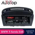 AUTOTOP 1din 8,8 ''IPS экран Android 10,0 автомобильный DVD Multimeida плеер для BMW серии 5/3 E60 E61 E62 E63 E90 E91 2004-2009 GPS