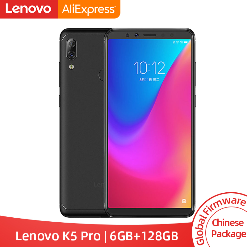Global ROM Lenovo K5 Pro 6GB 128GB Snapdragon 636 Octa Core Smartphone Four Cameras 5.99 Inch 18:9 4G LTE Phones 4050mAh