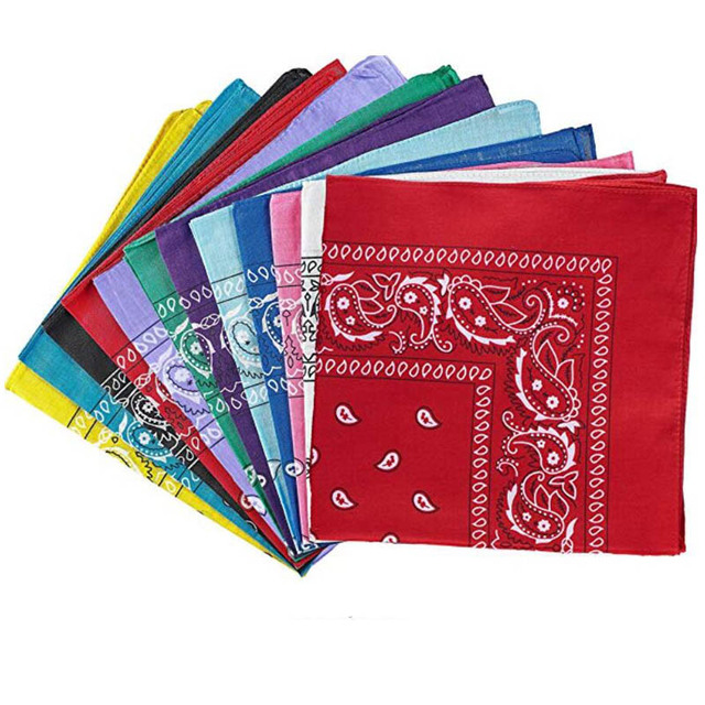 Fashion Hip Hop Cotton Paisley Bandana Headscarf Headband Printed Square Scarf Handkerchiefs Cycling Face Mask for Adults Kids 3