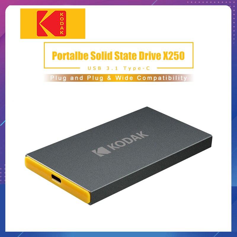Kodak X250 внешний SSD жесткий диск 120 ГБ SSD 240 ГБ 512 ГБ Портативный SSD Внешний жесткий диск 1 ТБ hdd для ноутбука с type C USB 3,1