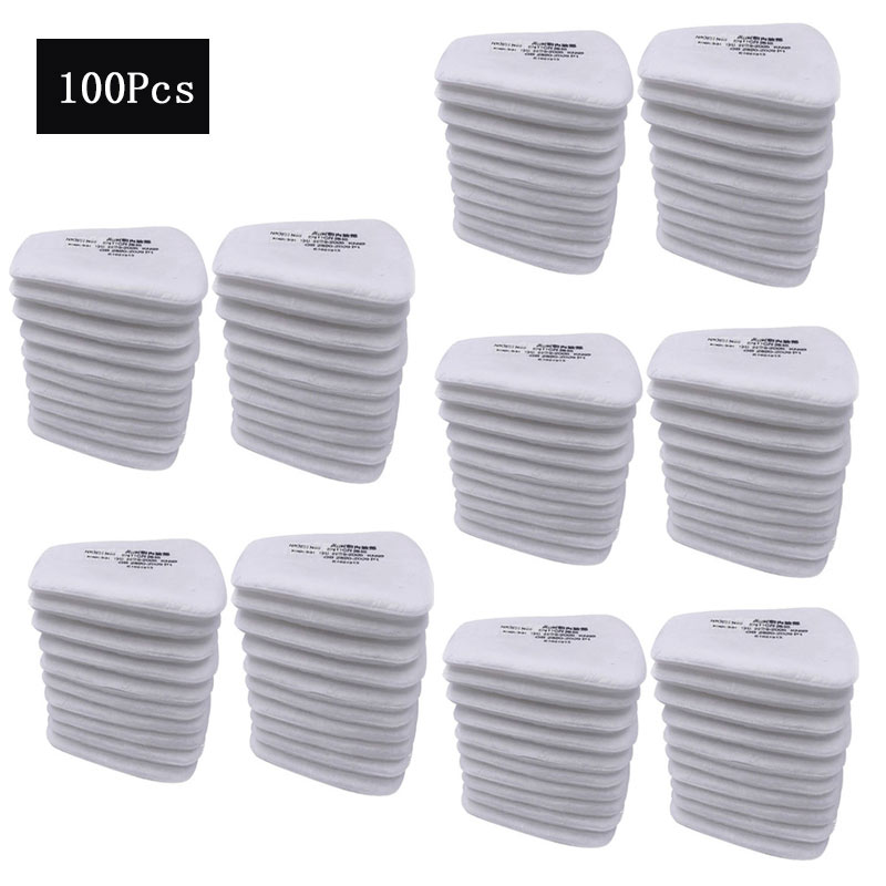 20/50/100/150pcs 5N11 Cotton Filters Replaceable Filters For 6200/7502/6800 Gas Dust Mask Accessories