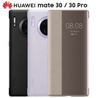 HUAWEI MATE 30 Pro Case Official Original Smart View Flip Cover HUAWEI MATE 30 5G Case Mirror Window Leather wake sleep Cover