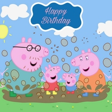 Peppa Pig Decoration Suppllies Backdrop Birthday Party Event Photo Backdrop Photography Baby Birthday Banner 120*80cm