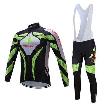 Outono roupas de ciclismo manga longa dos homens 2019 calças JARDINEIRAS bicicleta kit roupas Pro bicicleta conjuntos de vestido camisa MTB Triathlon terno desgaste