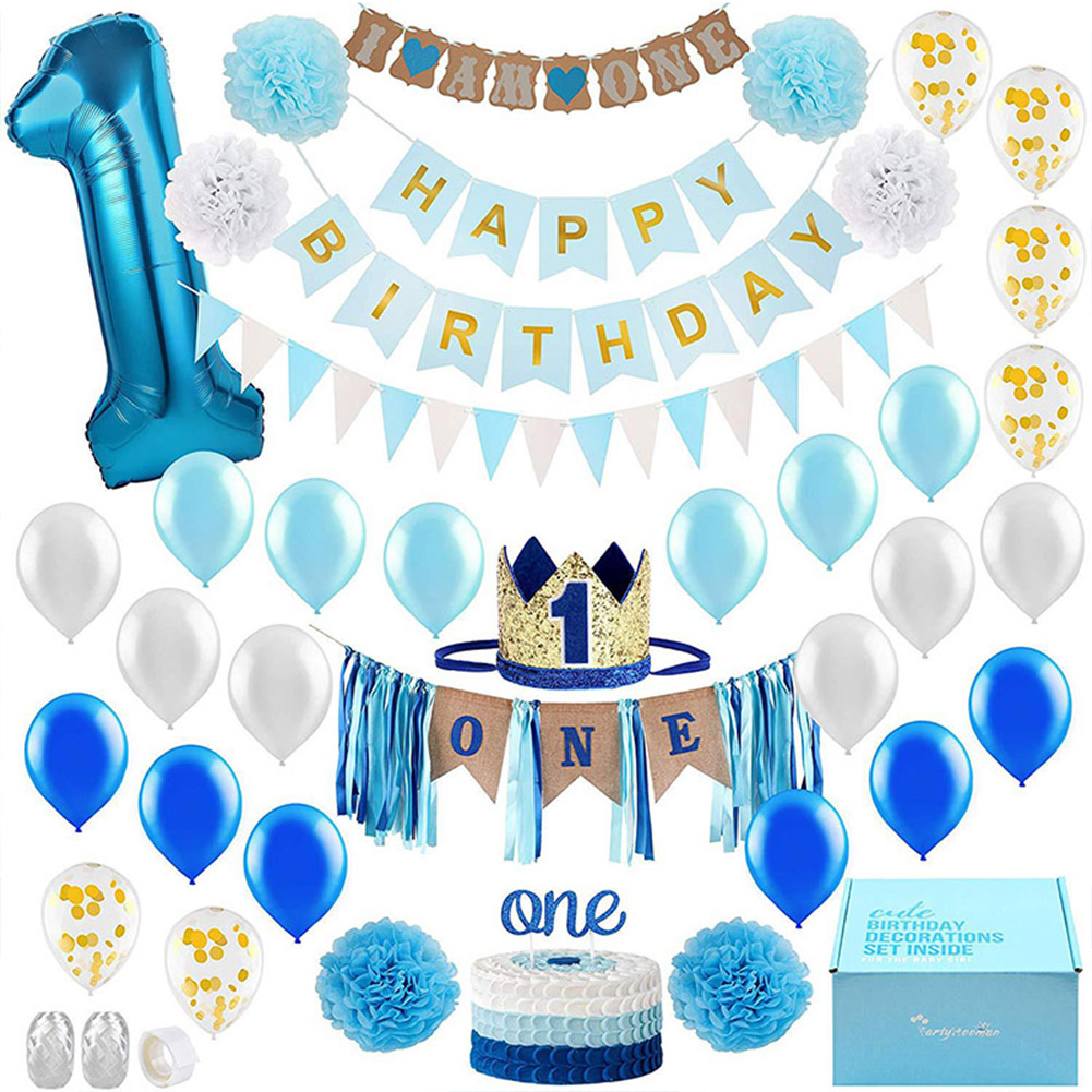 Baby Shower Boy Girl Latex Balloons Set My 1st Birthday Party Decoration Kids Happy Birthday Balloon 1 Year Old Bdf99 Ballons Accessories Aliexpress