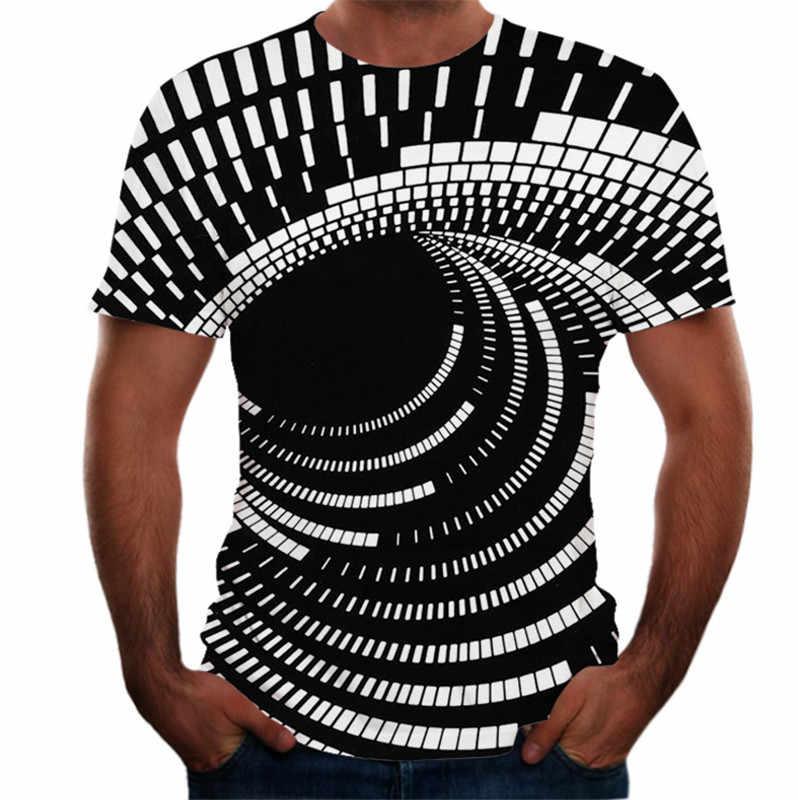 2020 새로운 t 셔츠 남자 여름 3 차원 3D 소용돌이 티셔츠 남자 여자 3D T 셔츠 반팔 하라주쿠 힙합 Tshirt 탑스