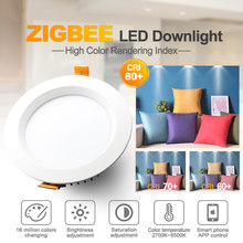 GLEDOPTO LED Downlight 220V 110V 230V AC Zigbee Licht Link RGBCCT Smart Home Dimmbare Lampe 6W 9W 12W Downlight SmartThing Echo(China)