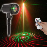 Outdoor Waterproof  Christmas Decorations lights Laser Showers Projector Double Color 24 patterns With RF Remote Controller|Holiday Lighting|Lights & Lighting -