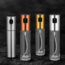 Portable Spray for Olive Oil with Funnel Stainless Steel 100ml Container Sunflower Glass Vinegar Soy Sauce Sprayer