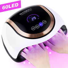 UV LED Lamp With LCD Touch Screen Two Hand Space Nail Dryer Fast Curing Manicura Lamp 4 Timer 60leds Gel Light Nail Equipment