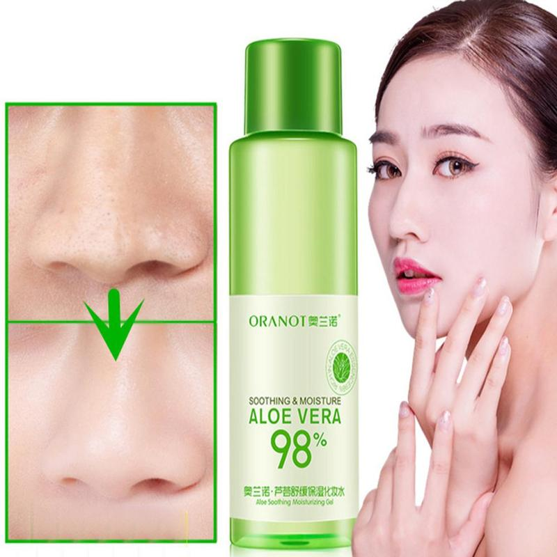 120ml Aloe Face Tonic Hydration Facial Toner Skin Care Products Pore Minimizer Oil Control Makeup Water Face Toner Skin Care image