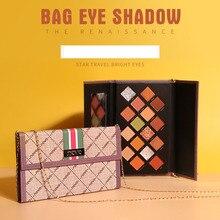 NOVO блестящие тени для век, матовые тени для век, палитра для макияжа с сумкой, 16 цветов, прессованная блестящая пудра, Мерцающая женская косметика