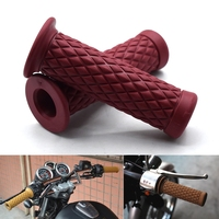 Universal 7\/8\ 22mm Retro Rubber Motorcycle Handle 8 Colors Available For Kawasaki ZX-6 W800 SE NINJA 650R VERSYS ZZR600 ZX9R