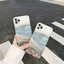 Art Retro Oil Painting Flowers Phone Case For iPhon