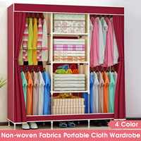 Large Capacity Non-woven Cloth Wardrobe Folding Portable DIY Wardrobe Clothes Storage Cabinet Closet Home Furniture