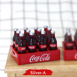 12pcs Mini Cola Drinks 1/12 Dollhouse Miniatures Accessories DIY Kitchen Food Drink for BJD Doll Mini Coke Drink Kitchen Toys(China)