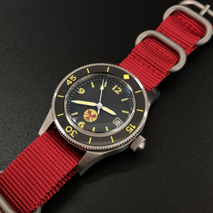 Image 3 - STEELDIVE 1952 China Red NH35 Automatic 300m Diver Watch Mechanical 316L Steel Automatic Watches Men Self Wind 41mm Dive Watch