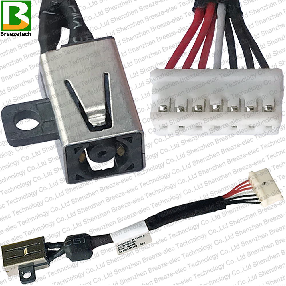 Genuine LAPTOP DC Power Jack socket Cable connector For <font><b>Dell</b></font> Precision M3800 <font><b>XPS</b></font> 15 <font><b>9550</b></font> 9530 5510 M5520 9560 DC30100X200 064TM0 image