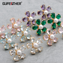 GUFEATHER M778,jewelry accessories,18k gold plated,0.3 micro