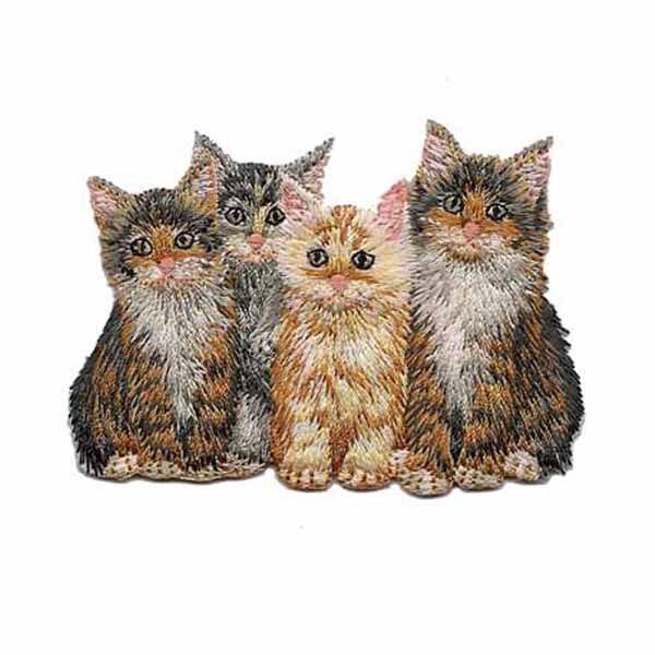 Нашивки для вышивки с изображением котенка, высота 2,5 дюйма
