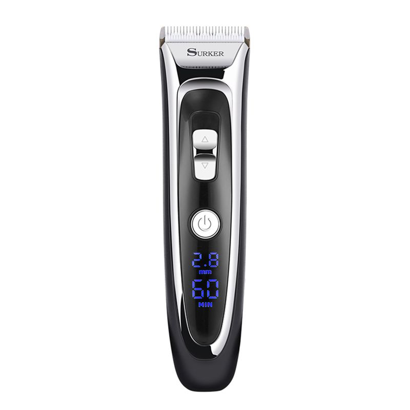 SURKER Model RFC-688B Electric Foil Hair Trimmer For Men With Clean & Charge Station, Electric Men's Women's Hair Clippers Cutte