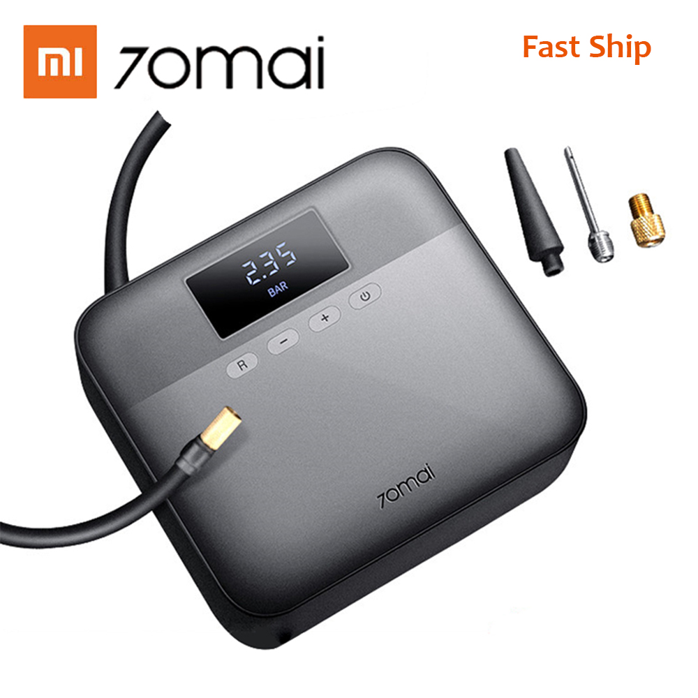 In Stock Original Xiaomi 70mai Protable Fast Electric Car Air Pump 12V Min Air Compressor Tire Inflator Auto Tyre Pumb