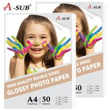A4 50 Sheets Gloosy Photo-paper Waterproof High Double Side For Inkjet Printer Photo Album