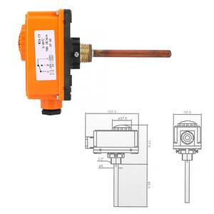 G1/2 Male Thread Hot Water Pipe Thermostat Temperature Controller 90 Celsius High Temperature Start Heating System Parts