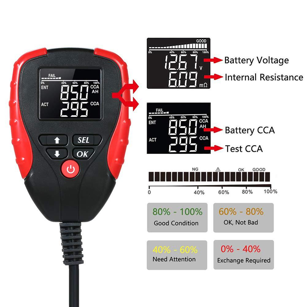 Digital 12V Car Battery Tester With CCA Mode Automotive Battery Electronic Load Battery Meter Analyzer Diagnostic Tool Pakistan