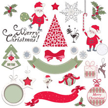 AZSG Christmas Santa Claus Clear Stamps/Stamp/For Scrapooking/Card Making/Silicone Stamps/Decoration Crafts