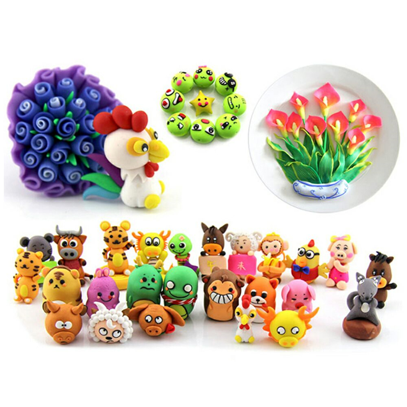 Soft Clay Toys Plasticine Oven-Baking Colorful Craft Educational Air-Dry Safe Children