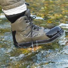 Botas de vadeado transpirables para hombre, zapatos de pesca de secado rápido y antideslizantes, para pesca, senderismo y caza
