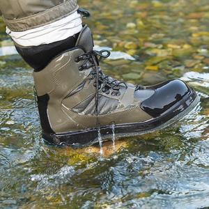 Image 1 - Mannen Ademende Outdoor Waden Laarzen, Sneldrogend En Antislip Vissen Schoenen, Voor Vissen, wandelen En Jacht