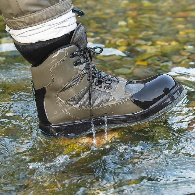 Stivali da trampoliere da uomo traspiranti da esterno, scarpe da pesca ad asciugatura rapida e antiscivolo, per pesca, escursionismo e caccia