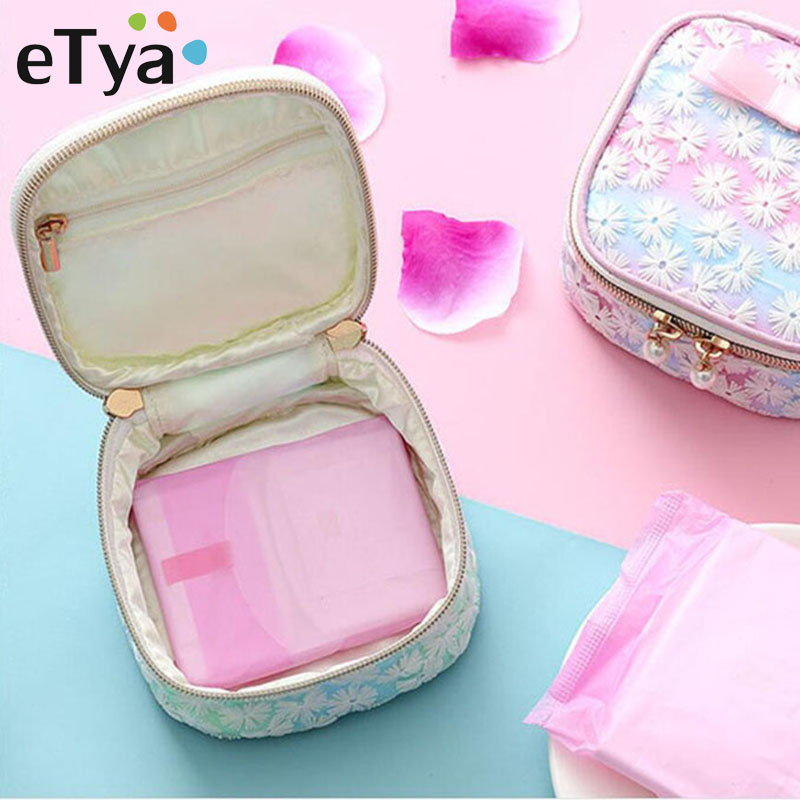 Fashion Mini Floral Cosmetic Bag Travel Portable Small Makeup Bag Organizer Pouch Beauty Pouch Kit Make Up Toiletry Bag Case