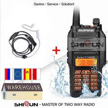 Оригинал Baofeng UV-9R радио 10 KM 8W IP67 водонепроницаемый двухдиапазонный 136-174/400-520MHz Ham Радио Baofeng 8W Walkie Talkie 10 KM UV 9R