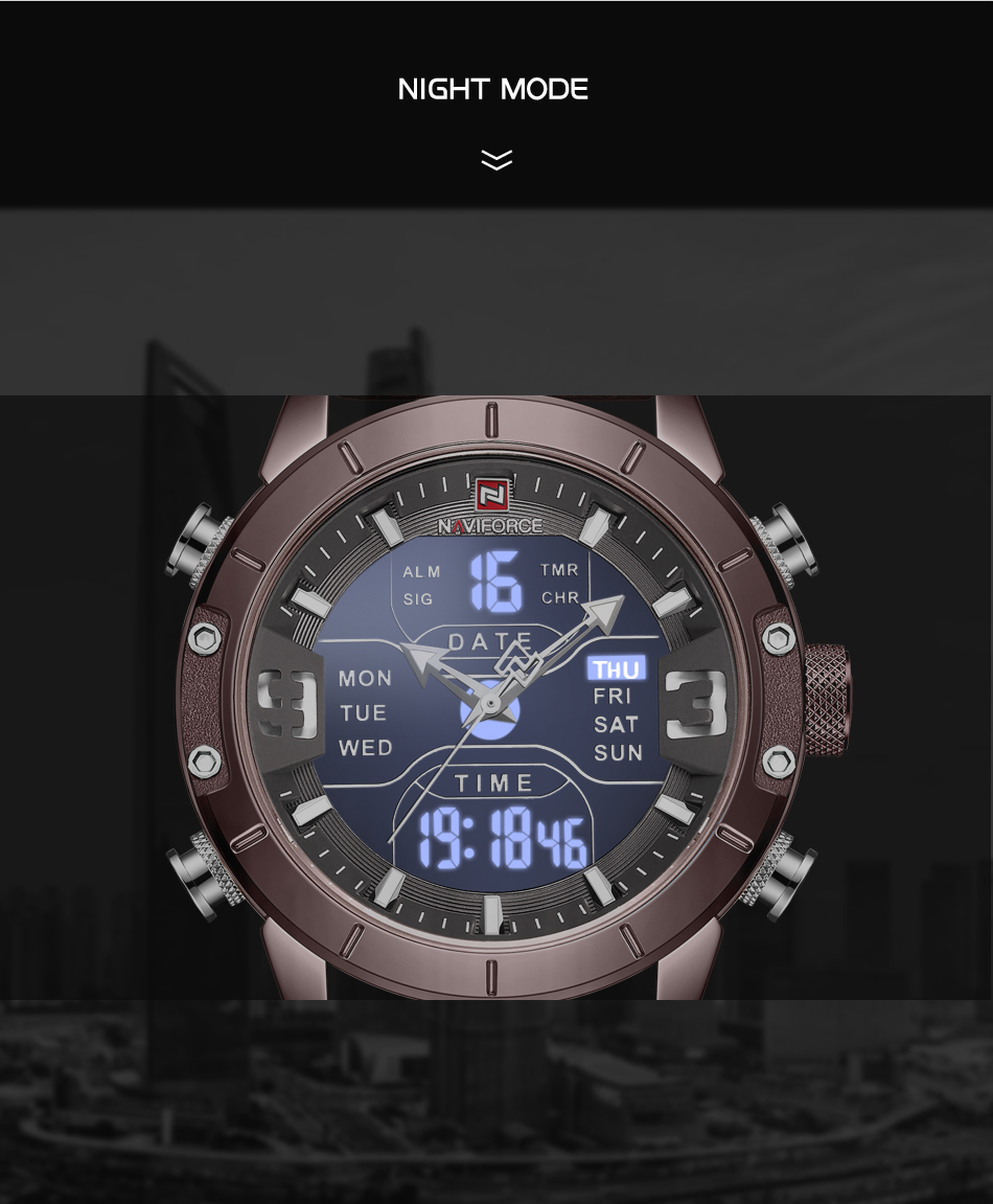 NAVIFORCE Mens Watches Top Brand Luxury Army Military Leather Mens Wristwatch Waterproof Digital Quartz Sports Watches Relogio (6)