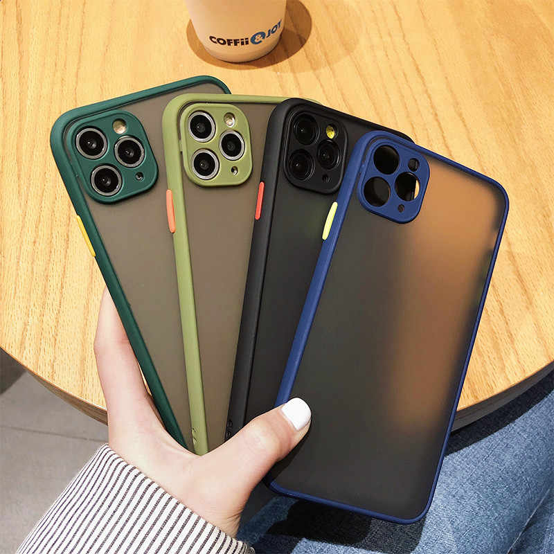 Lens Protection Phone Cases For iPhone 11 Pro XS MAX XR X Siliocne Matte Transparent Case Cover For iPhone 7 8 6 6S Plus Shell
