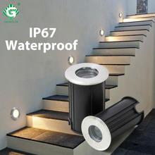 1 Вт светодиодный подземный светильник cob Напольная Лампа уличный